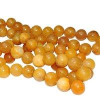 Satyamani Natural Energised Yellow Aventurine 12 mm Beads