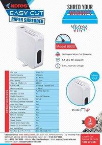 Kores Easy Cut 893S Paper Shredder