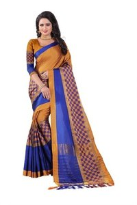New Design box Printed Saree