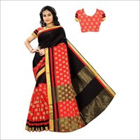 Heavy Jacquard Work Cotton Silk Saree