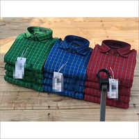 Mens Branded Cotton Check Shirts