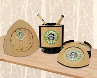 3PCS DESK SET - STARBUCKS