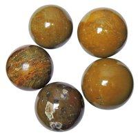 Satyamani Natural Yellow Jasper Gemstone Sphere Reiki Chakra Vastu