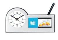 Table Clock Cum Pen Stand