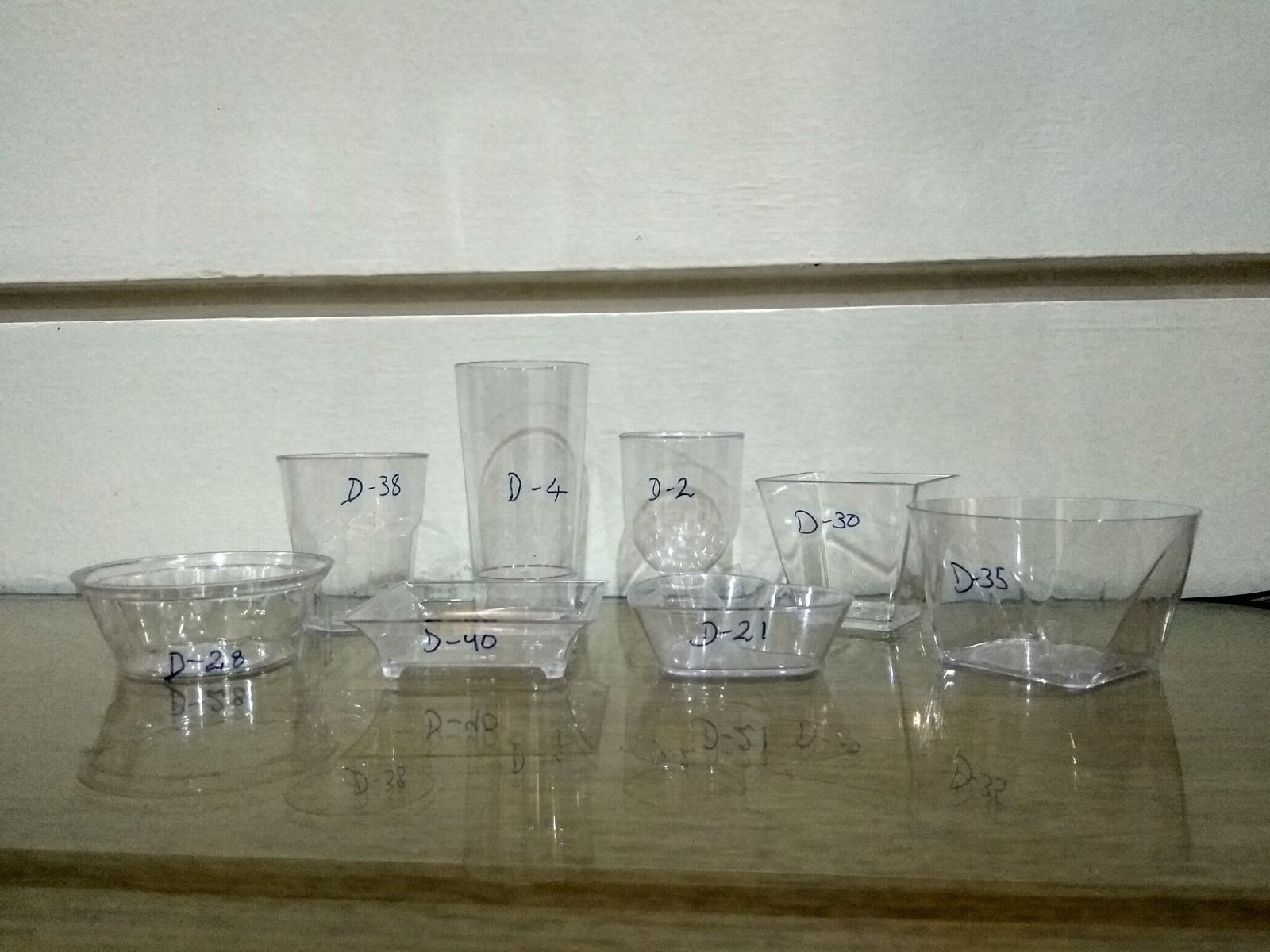 mousse plastic fancy cup