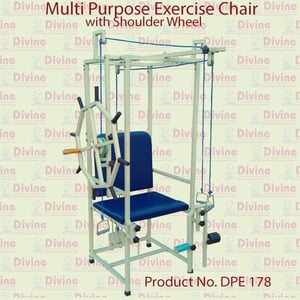 Multiple Purpose Exercise Chair with Shoulder Wheel