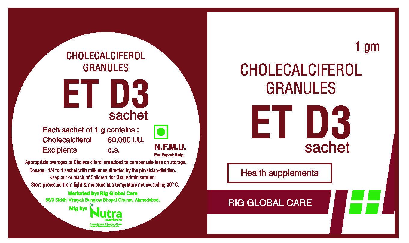 ET D3 Cholecalciferol Granules