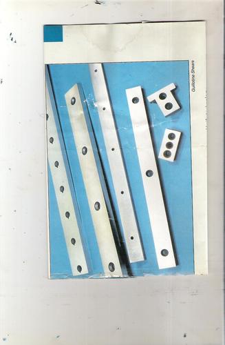 Shear Blade Plates