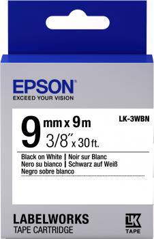 Epson LW Tape- LK-3WBN-9mm