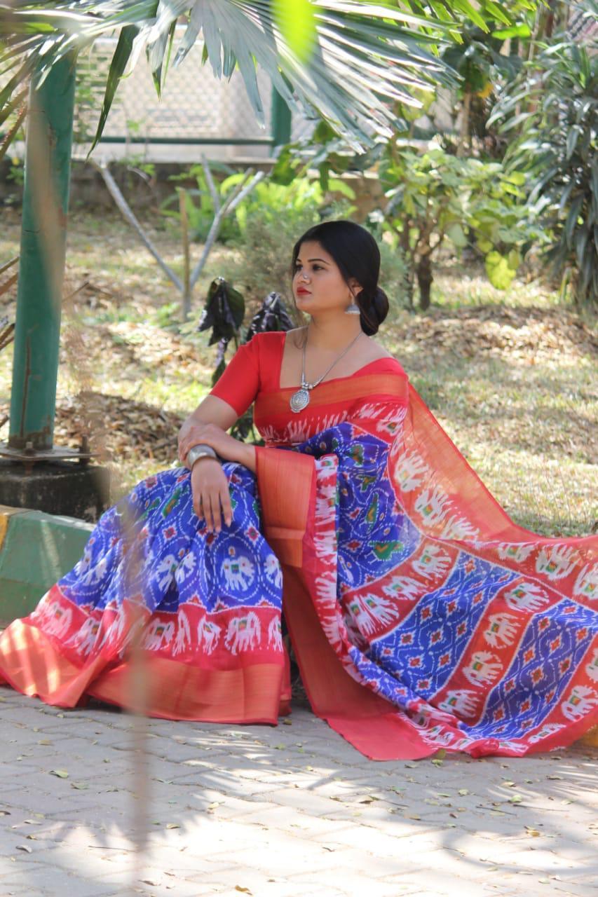 Soft Cotton Batik Print Sarees