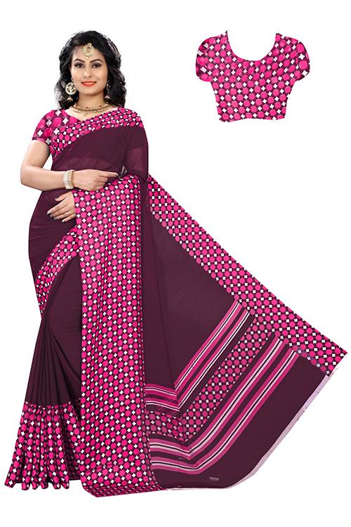 Sartin Patta Cotton saree