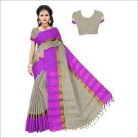 Jhalar Cotton Silk Saree
