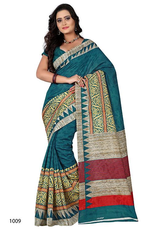 New Printed Mastani Silk Saree