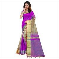 Sadhana Jhalar Poly Cotton Silk Saree