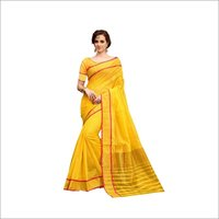 South TouchTop Dyed Cotton Silk  Saree
