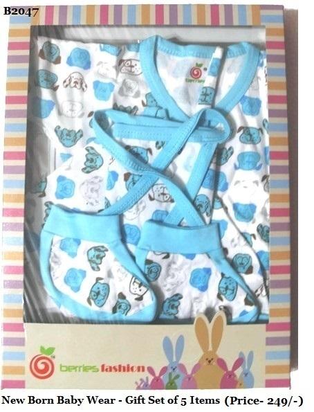 New Born Baby Dress-Blue