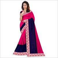 New Heavy Prined Cotton Silk Saree