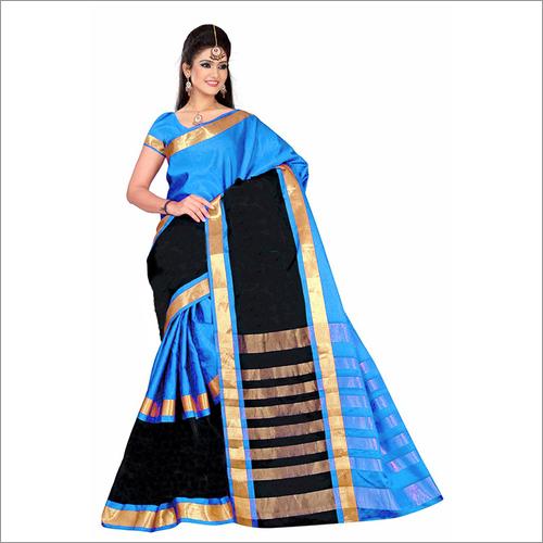 Golden Cotton Silk Saree