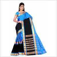 Golden Cotton Silk Saree