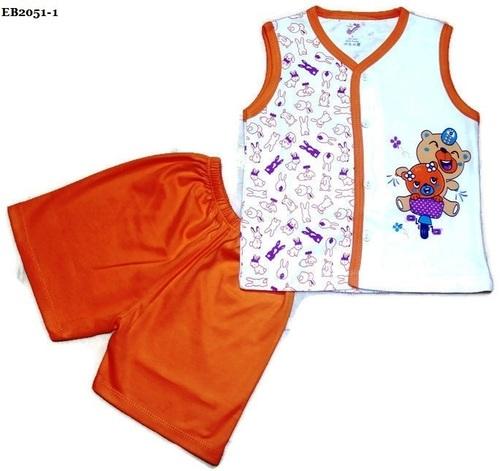 Boys Sleeveless V Neck Cotton Shirt & Half Pant