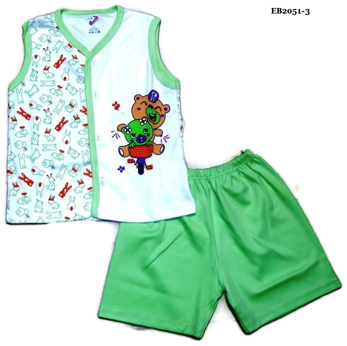 Boys Sleeveless V Neck Cotton Shirt & Half Pant