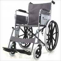 Folding Wheel Chair Chrome Plated