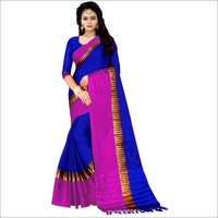 New Plain Soft Cotton Silk Saree