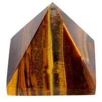 Satyamani Natural Tiger Eye Pyramid