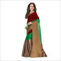Visava 3D Cotton Silk Saree