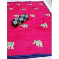 Sana Elephant Silk Saree