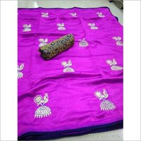 Sana Silk embroidery work Saree