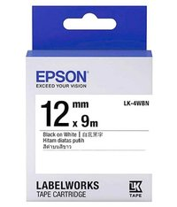 Epson LW Tape- LK-4WBN- 12mm
