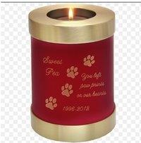 Scarlet Candle Holder Dog Urn Pet Urn