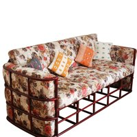 Cane Living Room Sofa Set