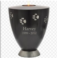 Candle Holder Paw Print Pet 60 cu in Cremation Urn