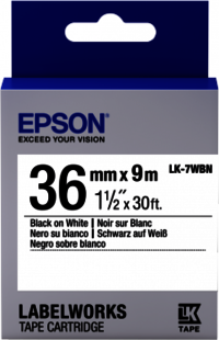 Epson LW Tape- LK-7WBN- 36mm