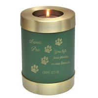 Engraved Pet Memorial Candle Holder Pet Urn