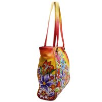 Leather Hand Painted Tote