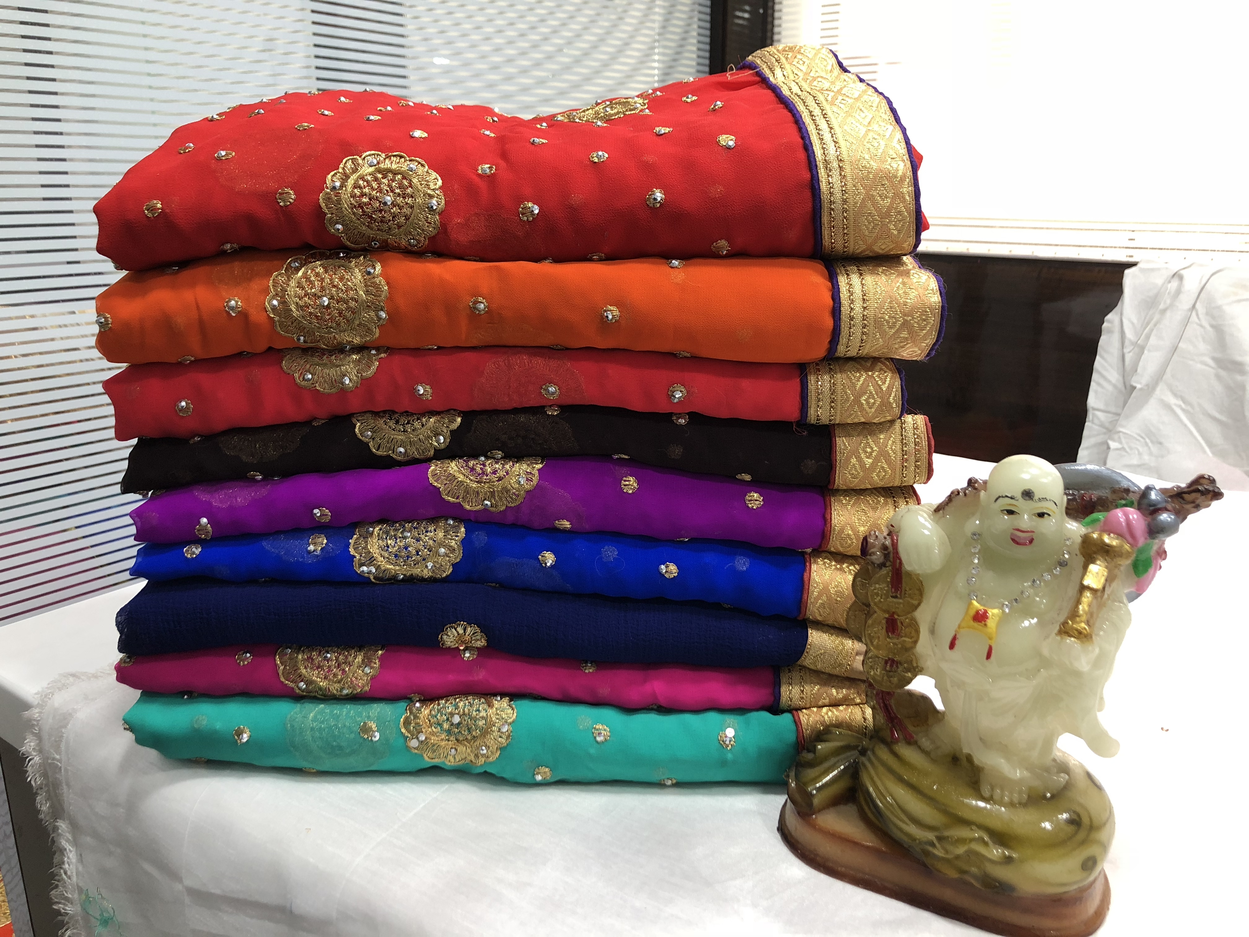New Embroidery Cotton saree