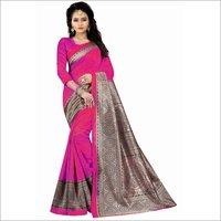 Kalamkari Design 3 Bhagalpuri Printed saree