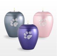 Crystal Pet Paw Print Tea Light Urn