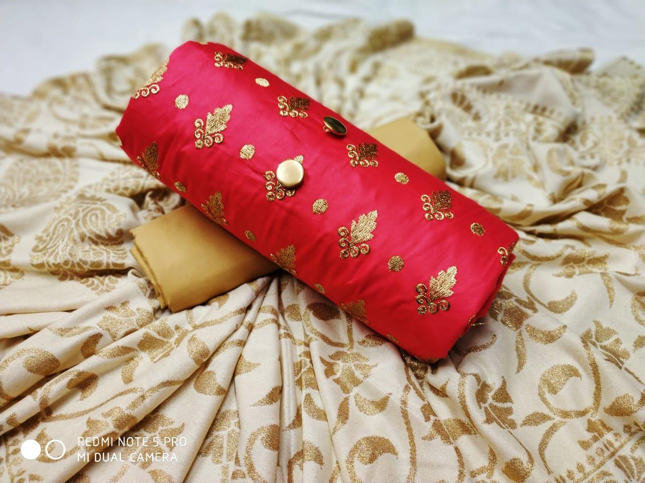 Silk Printed Dress Material
