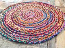 Braided Jute Chindi Round Area Rugs
