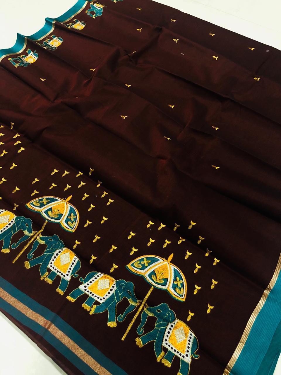 100% Pure Cotton Printed Saree