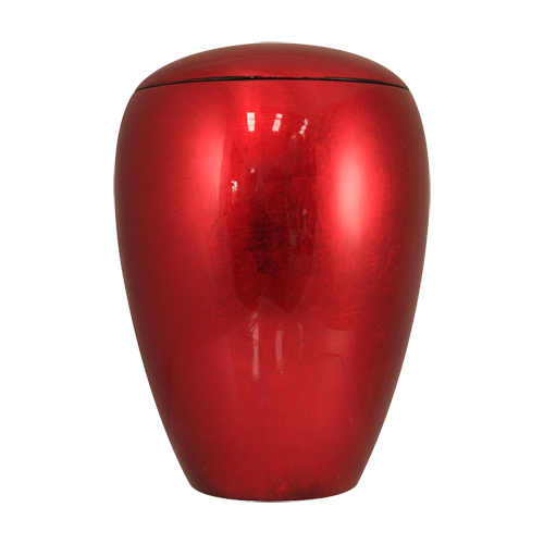 Red Aluminium Adult Cremation Urn For Ashes