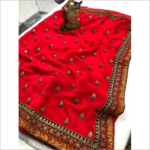 Embroidery Work Silk saree