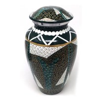 Raku Aluminium Cremation Urn For Ashes