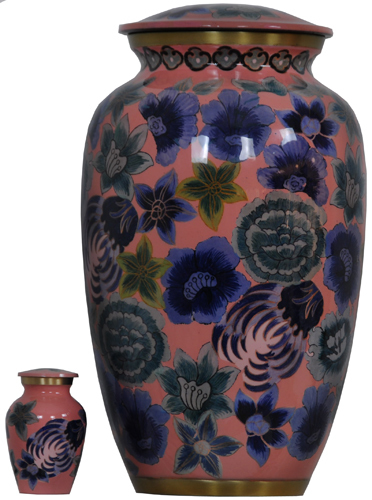 Hand Painted Aluminium Cremation Urn For Ashes
