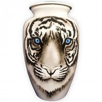 Tiger Aluminium Cremation Urn For Ashes
