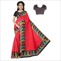 New Border Printed banglori Saree